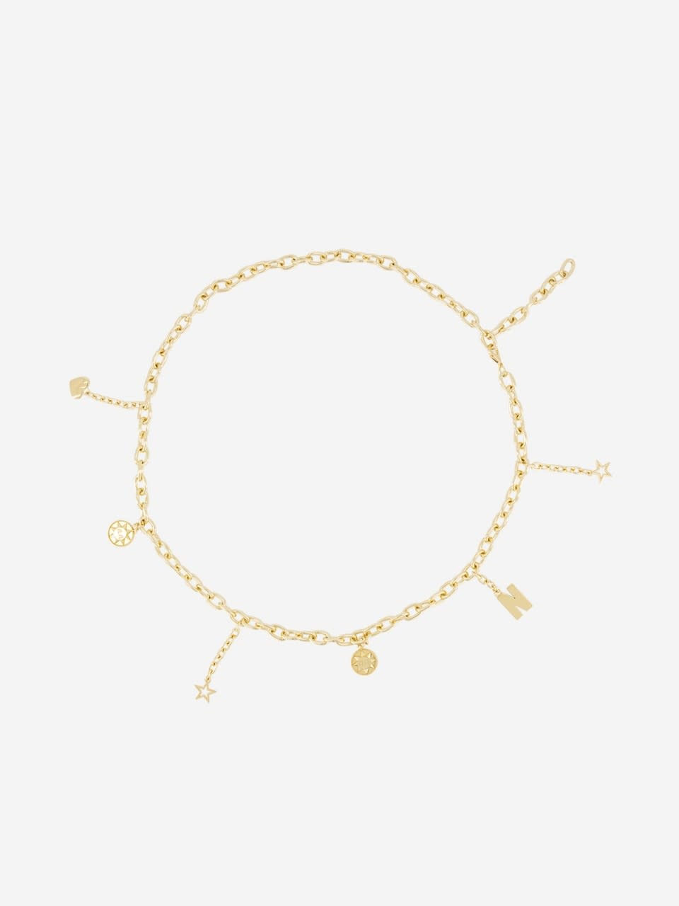 Nik & Nik Golden chain belt with charms