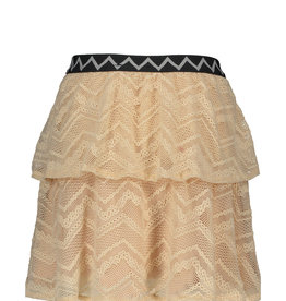 Like Flo Zigzag Mesh Skirt