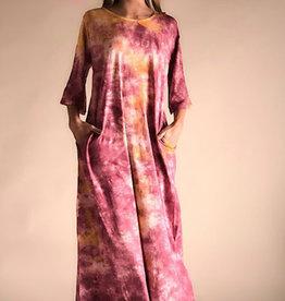Lange Tie Dye jurk