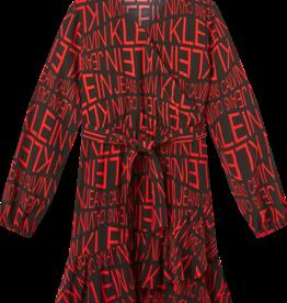 Logo Wrap Dress