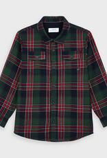 Mayoral Plaid Twill Shirt