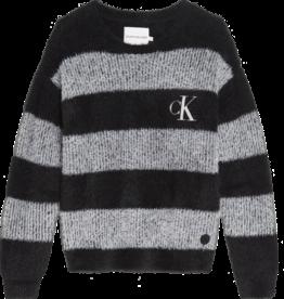 Calvin Klein Jeans Striped Fluffy Sweat