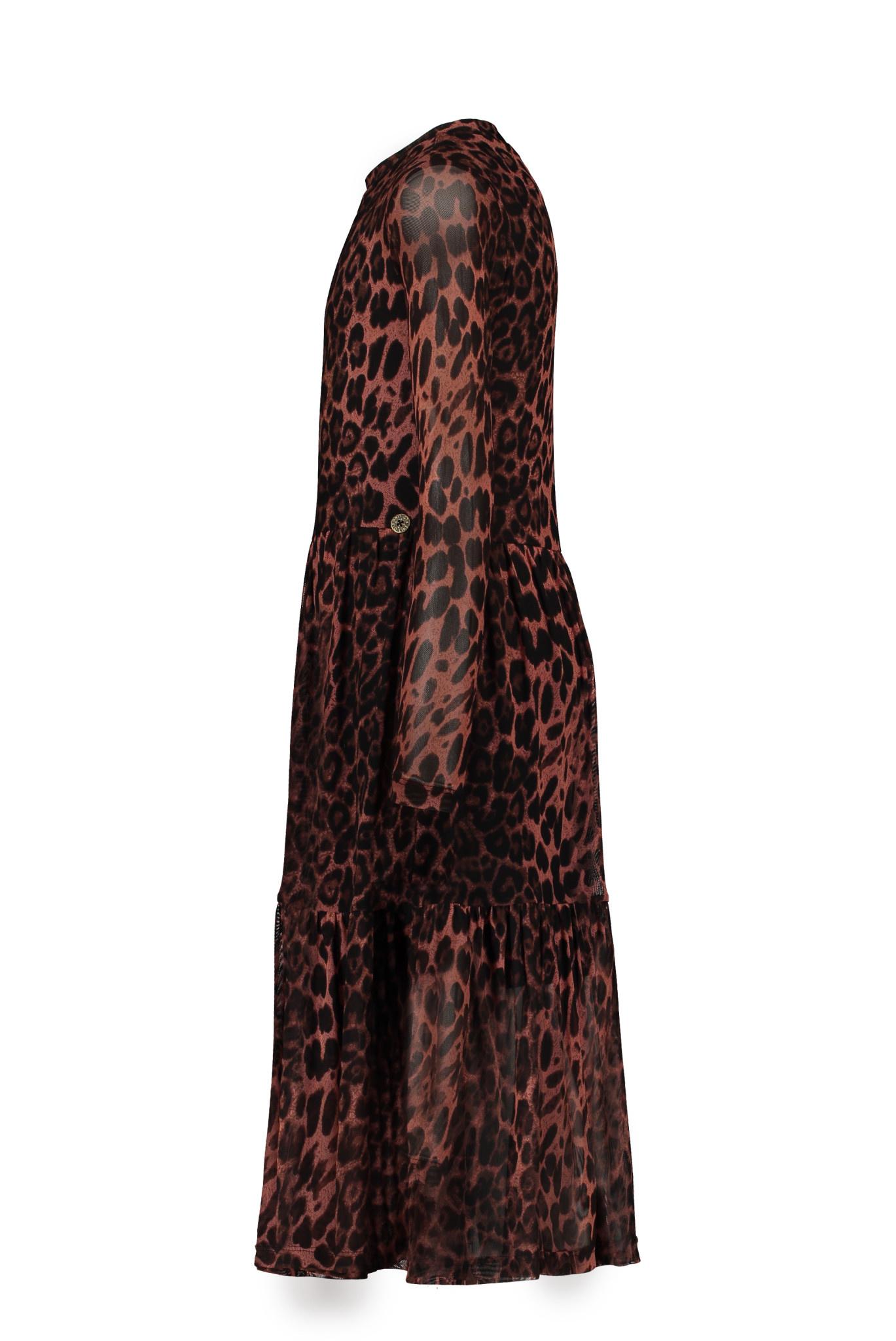 Like Flo Animal Mesh Long Dress
