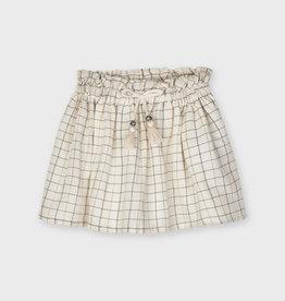 Plaid Lurex Skirt