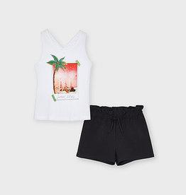 Shorts & Cross Shoulder