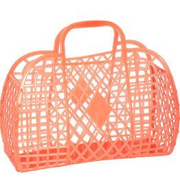 RETRO BASKET - Large Neon Orange