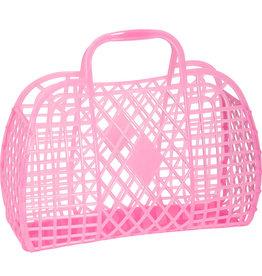 RETRO BASKET - Large Neon Pink