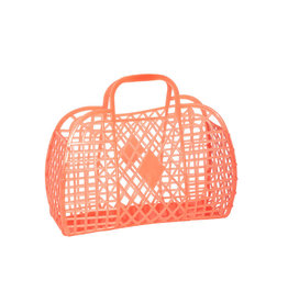 RETRO BASKET - Small Neon Orange