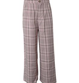 Wide Check Pants
