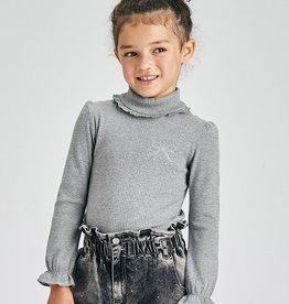 Rib mockneck sweater