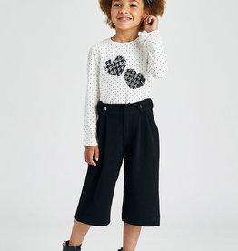 Crepe knit culotte trousers