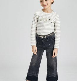 Denim trousers w/ belt