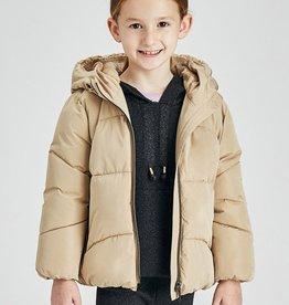 Hooded coat for girl