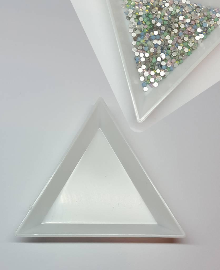 Schale für Strasssteine. Dreieck/Rund