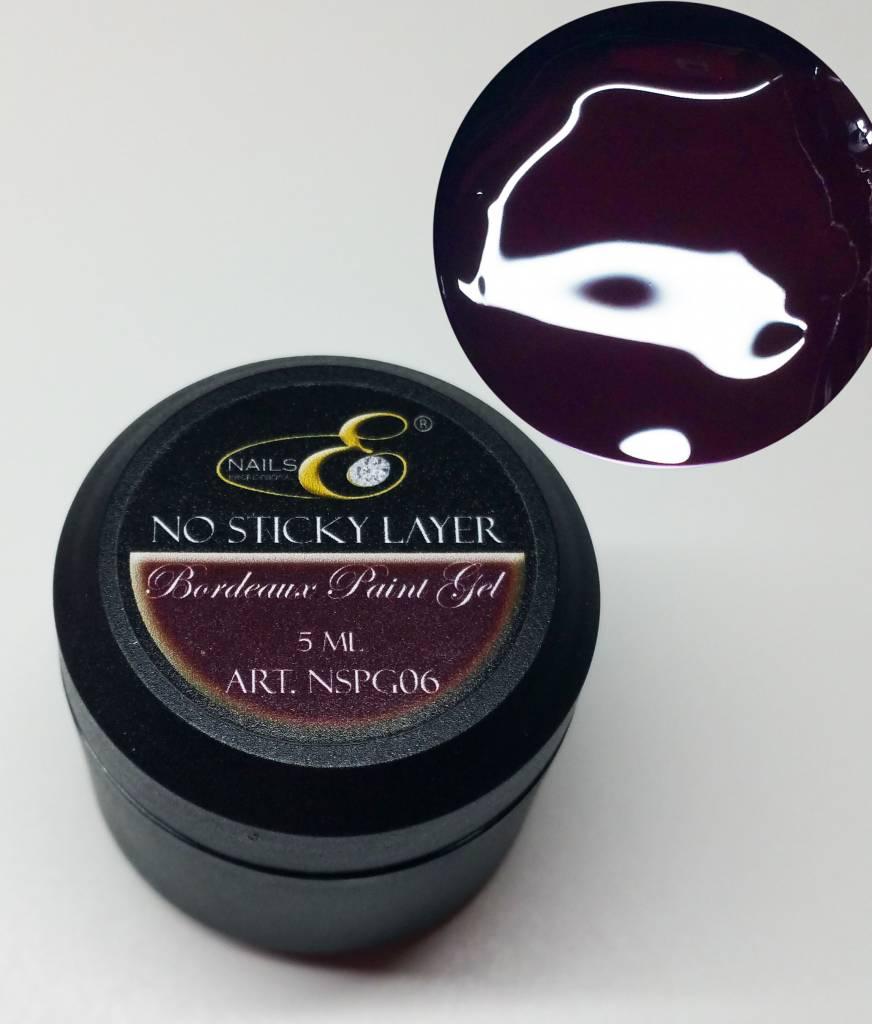 NailsE Professional NailsE No Sticky Layer. Bordeaux Paint Gel. 5ml