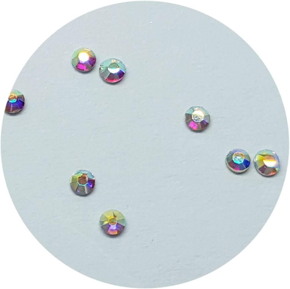Regenbogen Glas-Kristall SS4. 100 Stk.