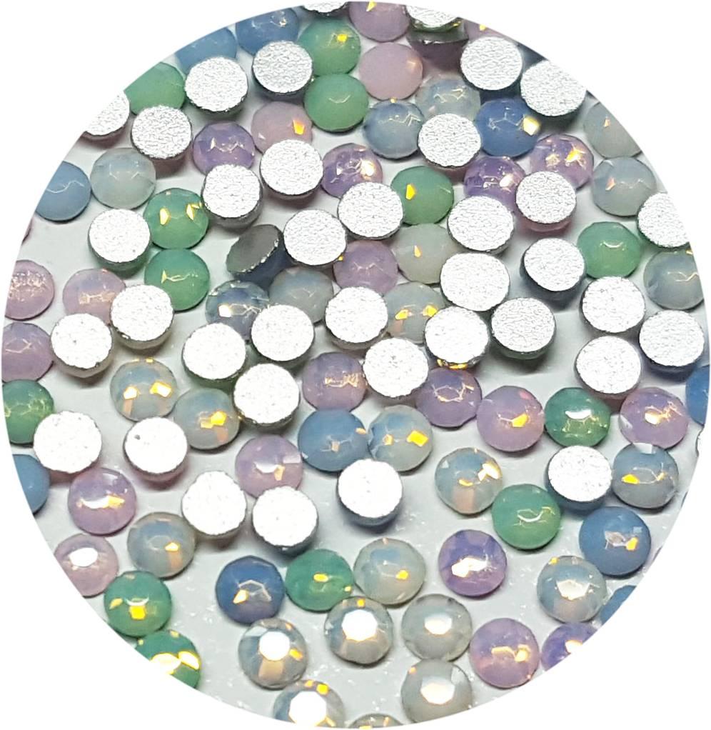 Opal-Mix Glas-Kristall SS6. 100 Stk.