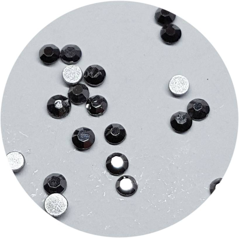 Antrazit Glas-Kristall SS3. 100 Stk.