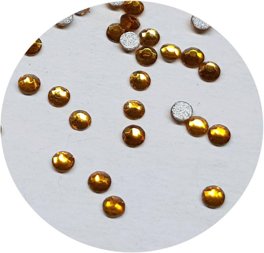 Gelb Glas-Kristall SS3. 100 Stk.