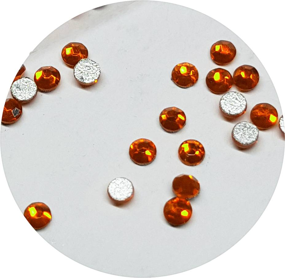 Orange Glas-Kristall SS3. 100 Stk.