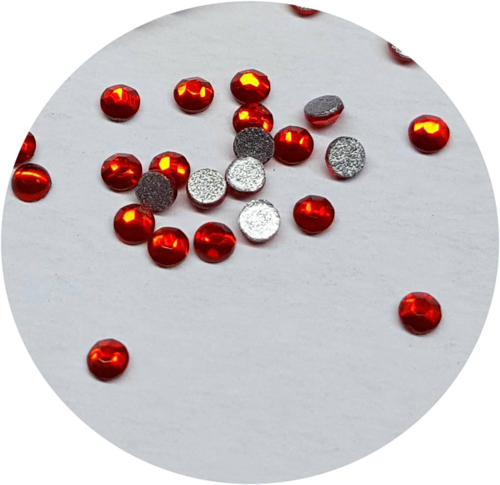 Rot Glas-Kristall SS3. 100 Stk.