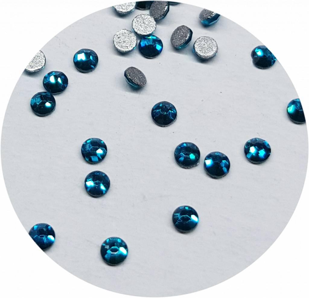 Türkis Glas-Kristall SS4. 100 Stk.