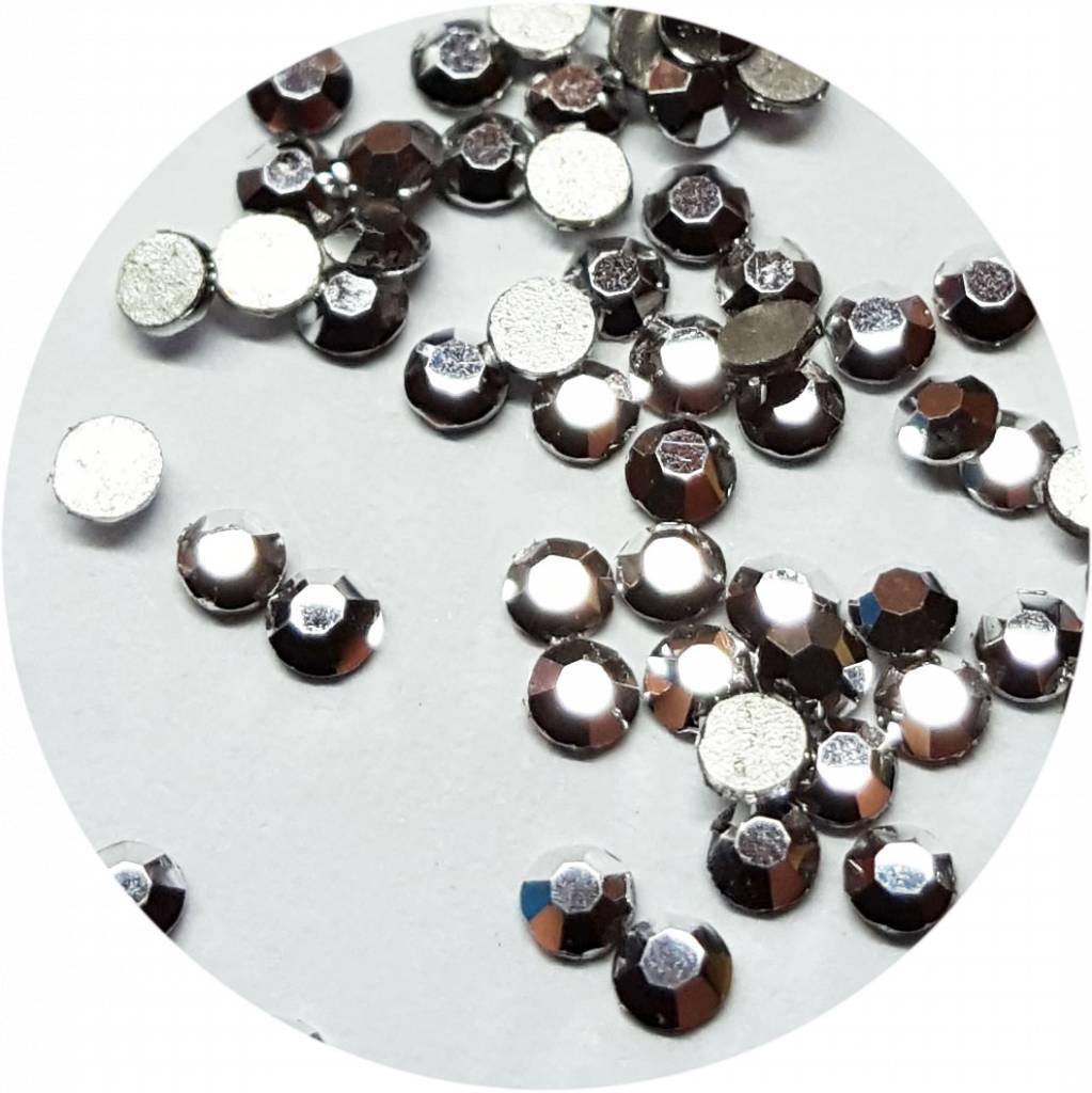 Silber Glas-Kristall SS4. 100 Stk.