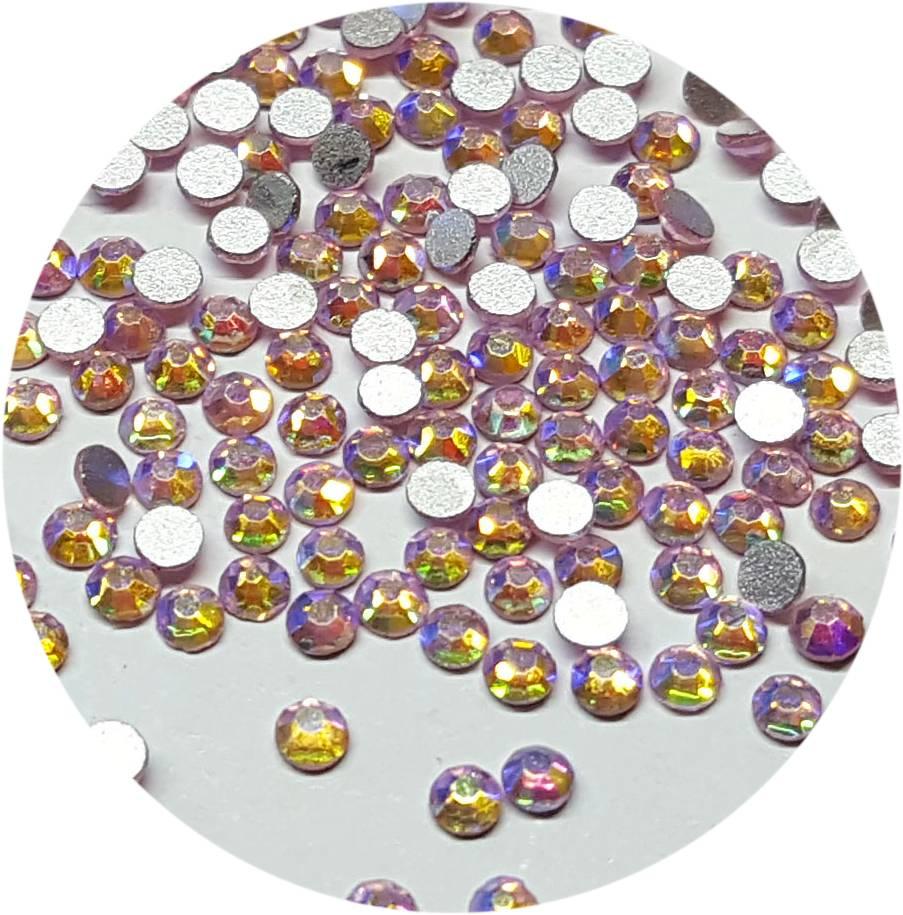 Rose-Regenbogen Glas-Kristall SS4. 100 Stk.