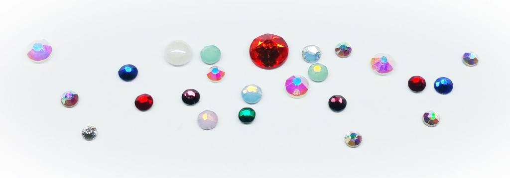 Glas Kristall Strass. Diverse Farben und Grössen