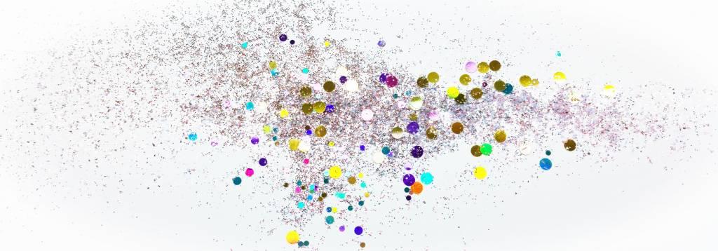 Verschiedene Glitzer und Einleger für NailArt