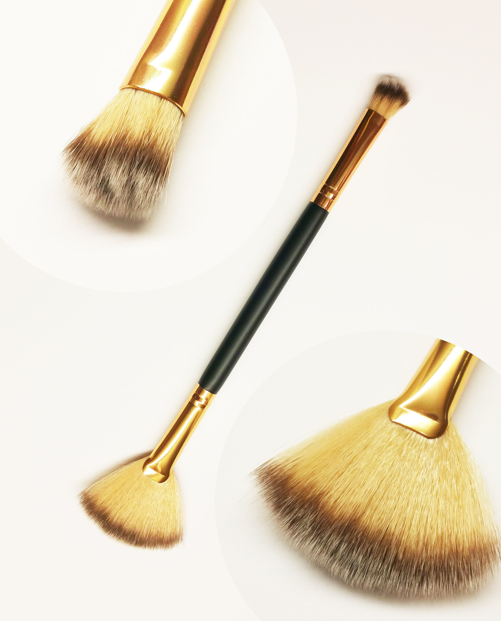NailsE Professional Doppel Pinsel für Pigment und Glitzer