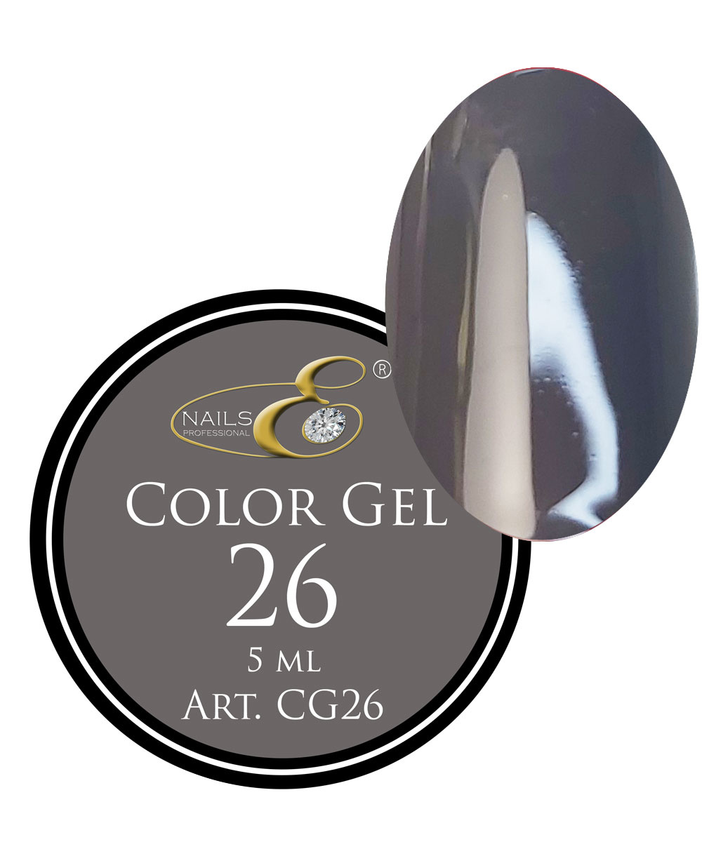 NailsE Professional NailsE Color Gel 26 Dunkelgrau. 5ml .