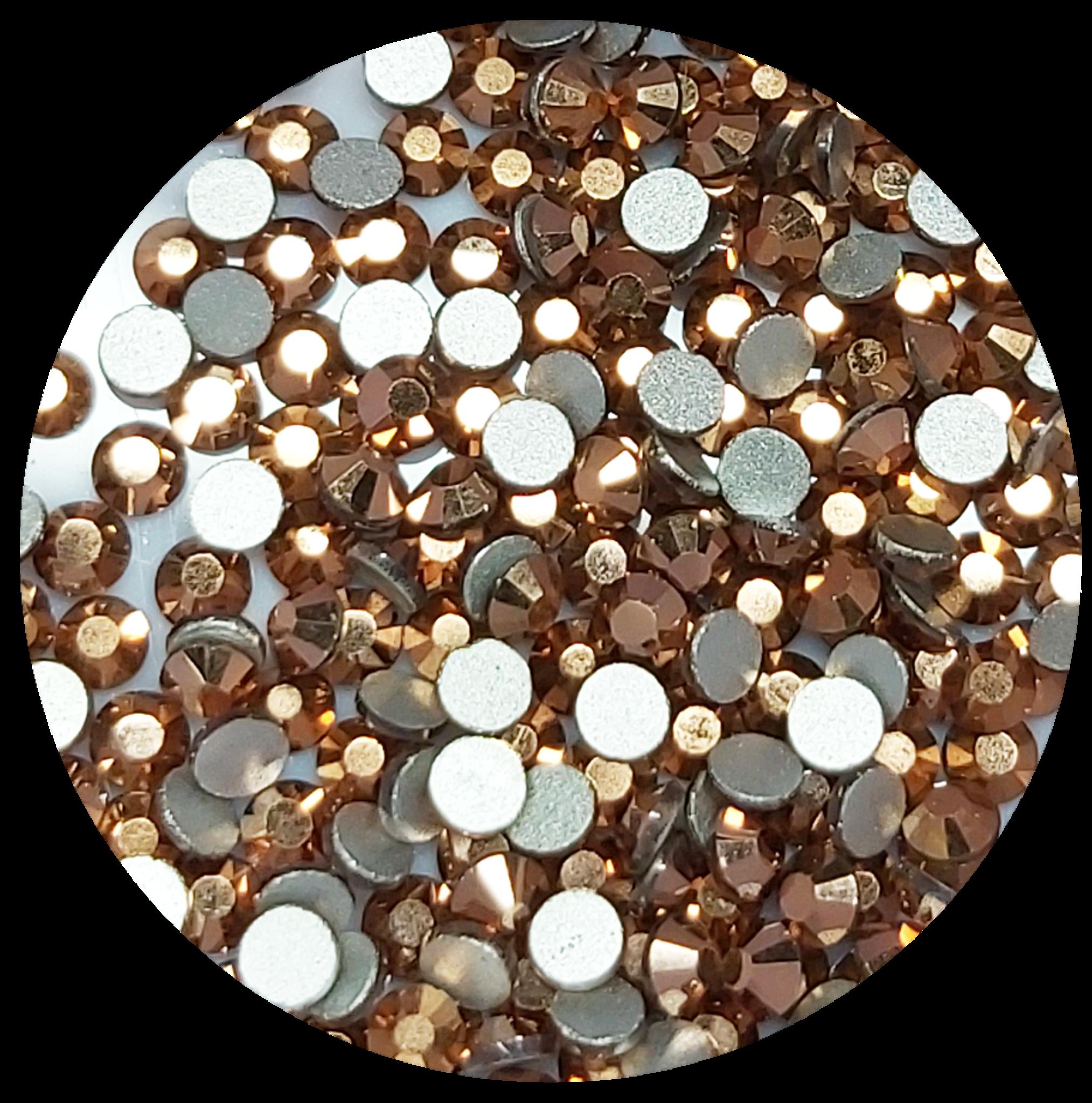 Rose Gold Glas-Kristall SS5. 100 Stk.