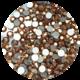 Rose Gold Glas-Kristall SS8. 100 Stk.