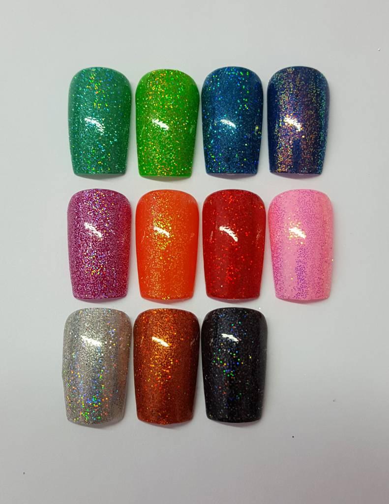 Irisierende Cover-Glitzer Fein. 8 Farben