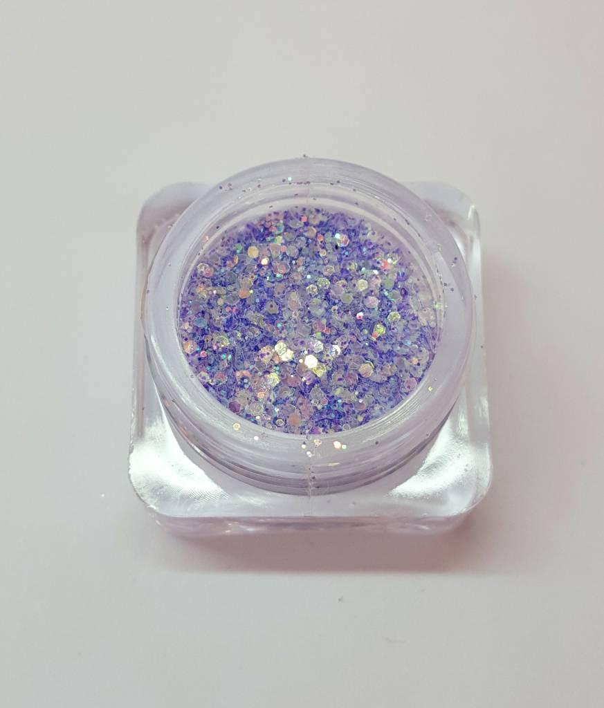 Irisierende Effekt-Glitzer Mix. 2 Farben