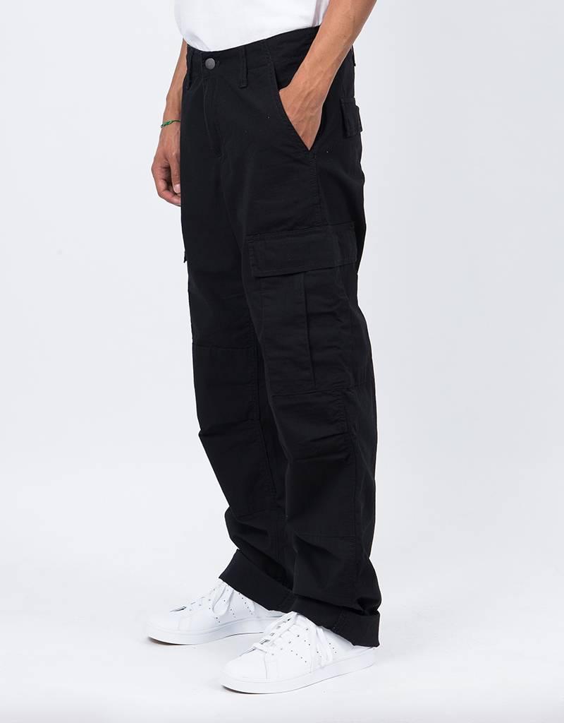 Carhartt Regular Cargo Pants Black Rinsed