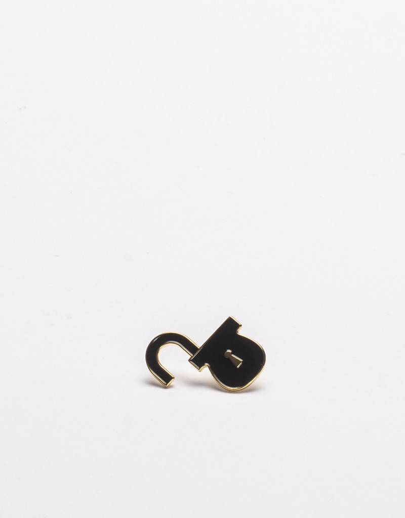 Lockwood Pin Black Gold