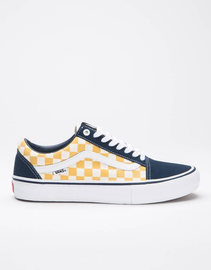 Vans Oldskool Pro Checkerboard Navy/Yellow