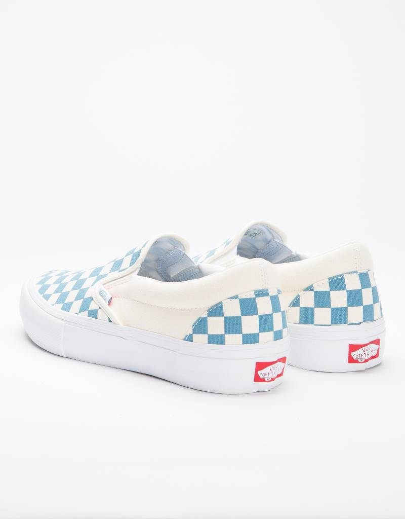 Vans Slipon Pro Checkerboard Captains Blue/Off White