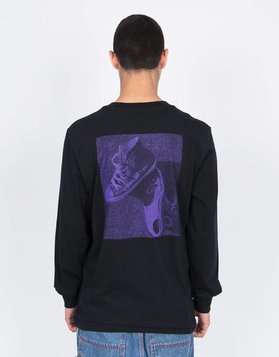 Converse Purple Longsleeve Black