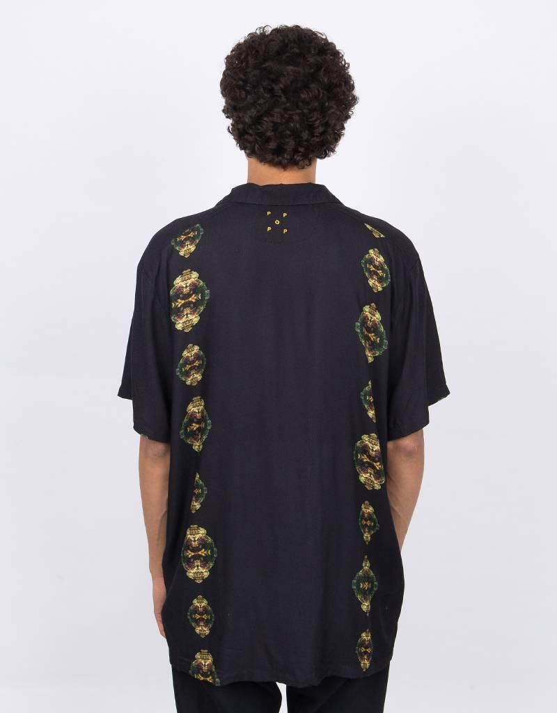 Pop Trading Co x Wayward Coral Links Shortsleeve Shirt Black