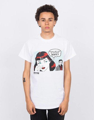 Thrasher New Boyfriend Shortsleeve T-Shirt White