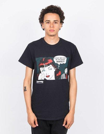 Thrasher New Boyfriend Shortsleeve T-Shirt Black