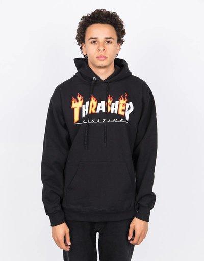 Thrasher Flame Mag Hood Black