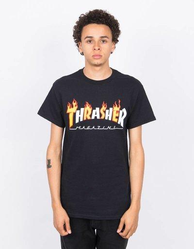Thrasher Flame Mag Shortsleeve T-shirt Black