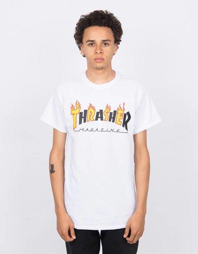 Thrasher Flame Mag Shortsleeve T-shirt White