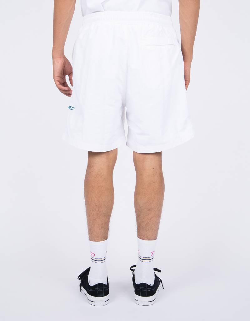 Pop Trading Co x Wayward  Snowy Shorts White
