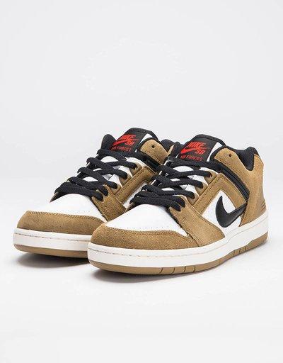 Nike SB Air Force II Low Lichen Brown/Black/White