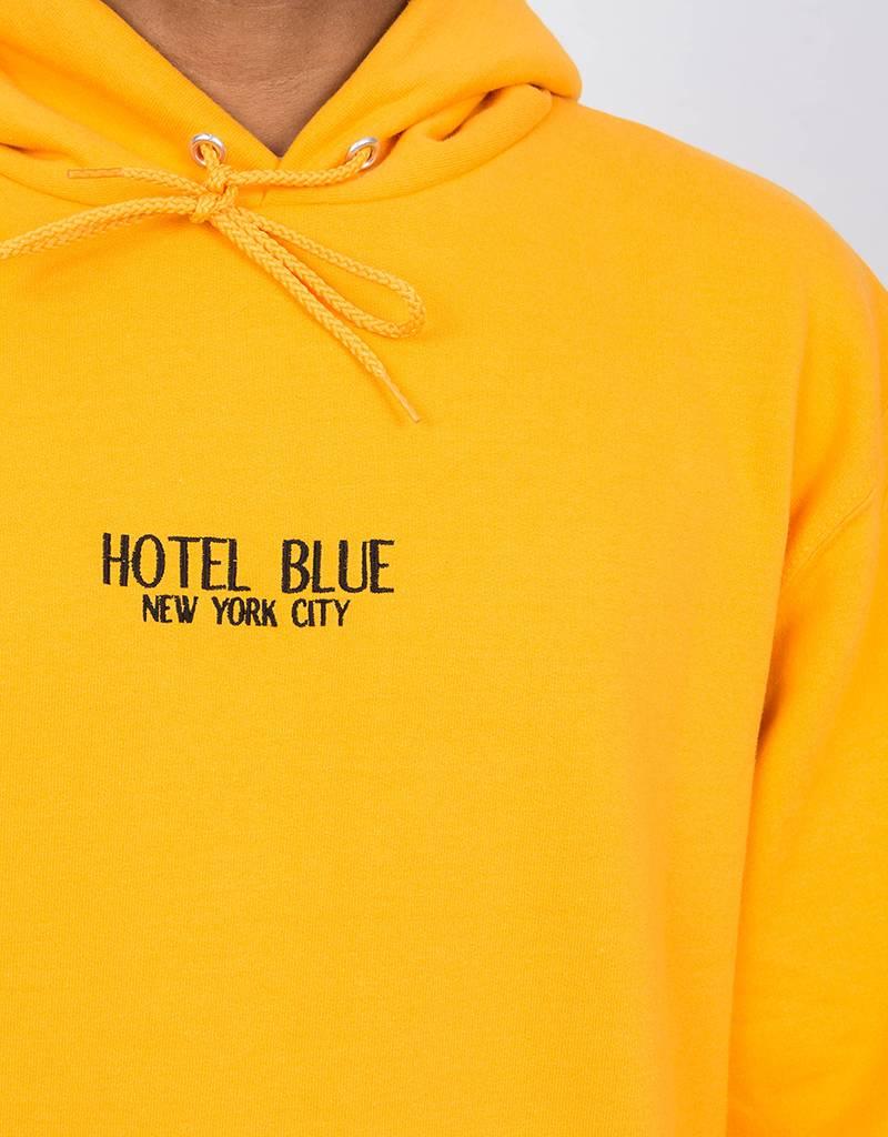 Hotel Blue Logo Hoodie Gold